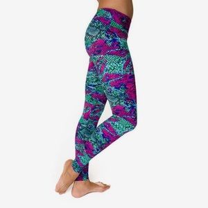 Onzie Snakeskin Multicolor  Leggings S/M